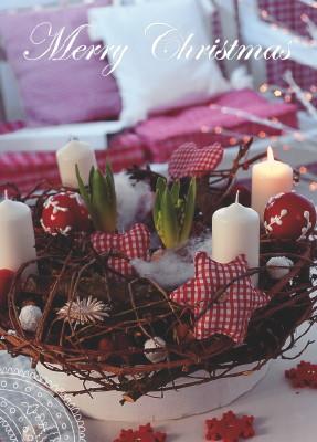 liebenswert online startseite postkarte adventskranz. Black Bedroom Furniture Sets. Home Design Ideas