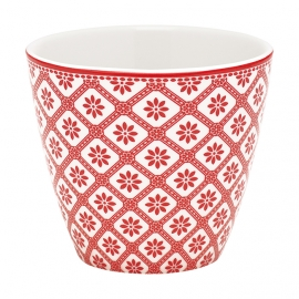 GreenGate Latte-Cup Bianca red