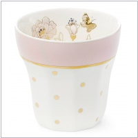 Miss �toile Mug Dots with Flowers Rosa