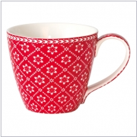 GreenGate Henkelbecher/Mug Alba red