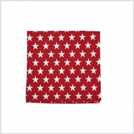 Krasilnikoff Stoffserviette Star red