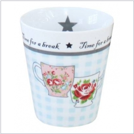"Krasilnikoff Happy Mug ""Time for a break"""