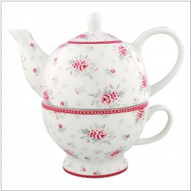 GreenGate Flora white Tea for one