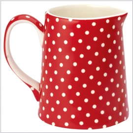 Design Spot red von GreenGate <br> Krug (0,5 l)