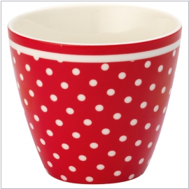 Design Spot red von GreenGate <br> Latte-Cup