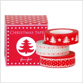GreenGate Masking Tape tree red
