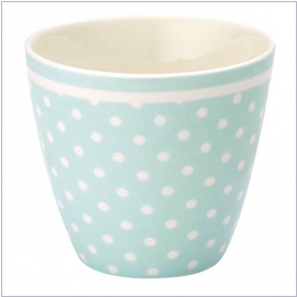 Design spot pale blue von GreenGate <br> Latte-Cup